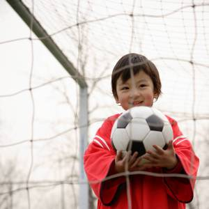 Cute Child with Soccer Ball