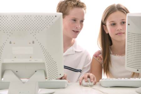 teens on computers