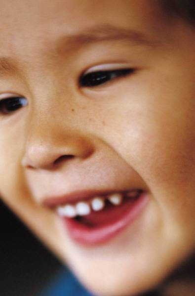 smiling child close-up